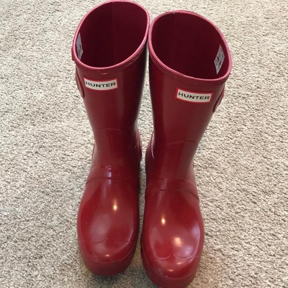 54dea321f89a Hunter Boots Shoes   Euc Hunter Short Gloss Short Boots Size 8 ...